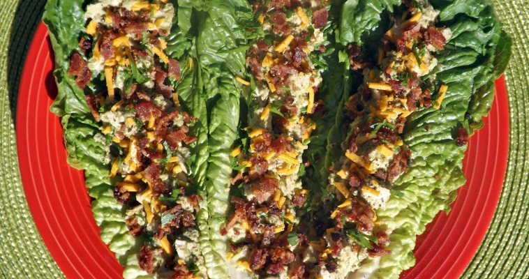 Chicken Bacon and Avocado Stuffed Lettuce Wraps