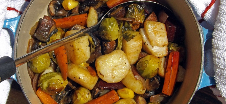 Scallops with Roasted Veg under 500 calories