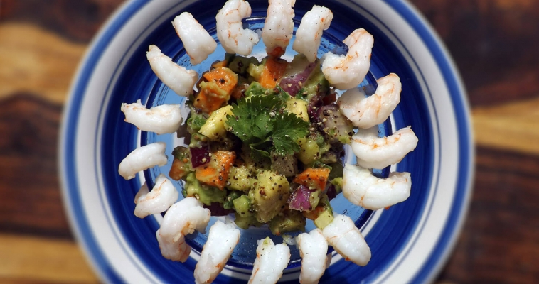 Avocado Salad with Shrimp